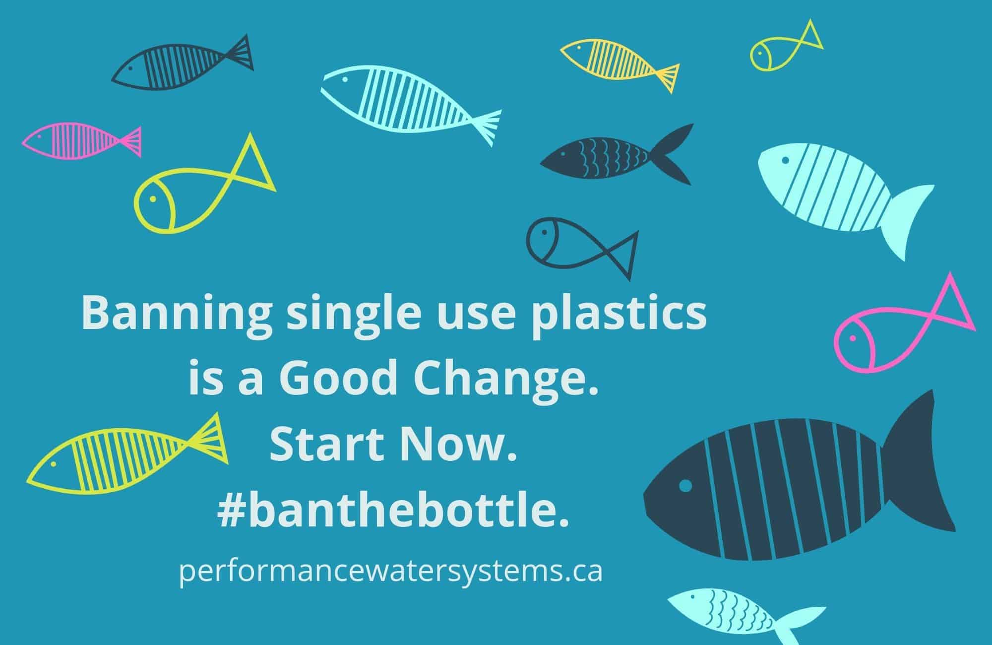 Ban on Single Use Plastics in Canada to take effect by 2021. Start Now. Ban the Bottle.